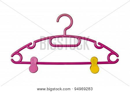 Hanger Isolated On White Background.