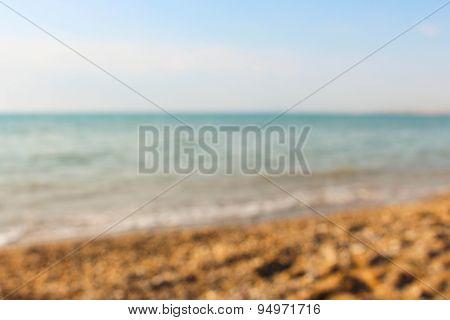 seashore abstract bokeh, seaside background.
