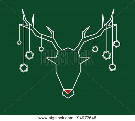 Stag Head With Ornaments