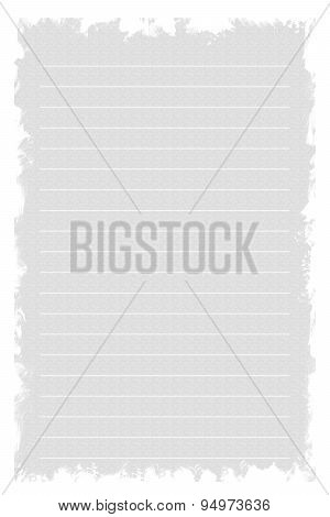White Texture Notebook Paper On White Background.