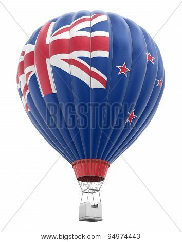 Hot Air Balloon with New Zealand Flag (clipping path included)