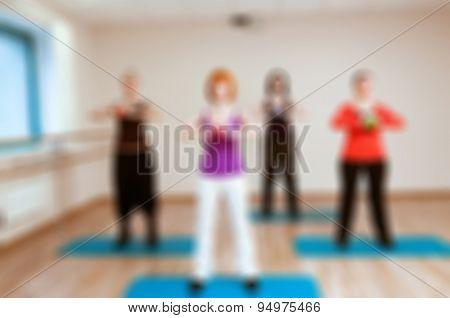 Womens fitness blur background