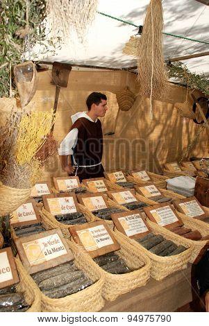 Medieval tea stall, Spain.