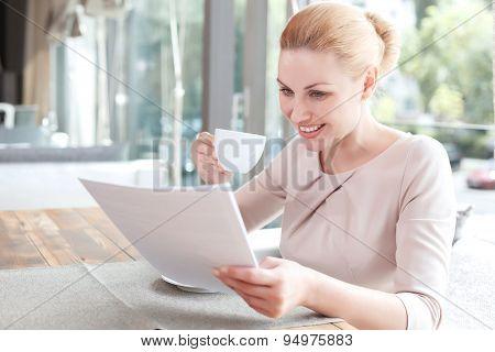 Businesswoman on a break