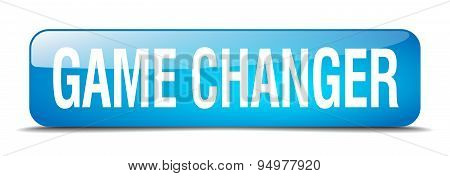Game Changer Blue Square 3D Realistic Isolated Web Button
