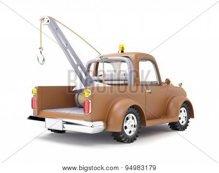 tow truck back view