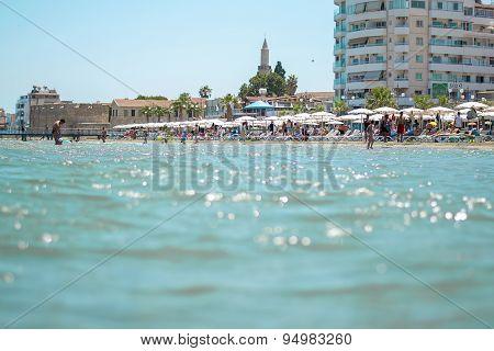 Larnaca beach, Cyprus