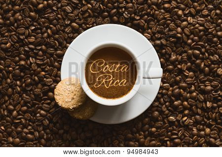 Still Life - Coffee Wtih Text Costa Rica