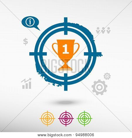 Champions Cup On Target Icons Background