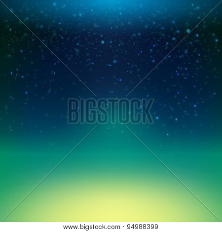 Night Sky With Stars, Vector Illustration