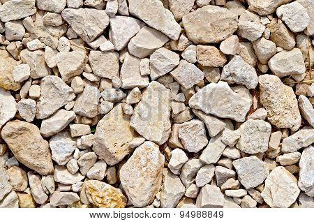 Crushed sandstone on dirt road