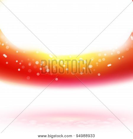 Light Red Wave, Vector Illustration
