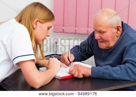 Signing Medical Papers