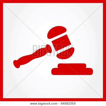 gavel symbol. vector illustration. court gavel.