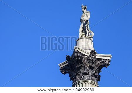 Admiral Horatio Nelson Statue On Nelsons Column