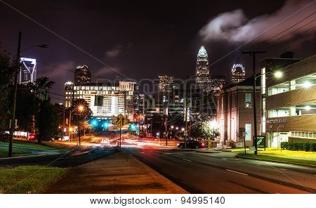 Charlotte, NC. United States at night