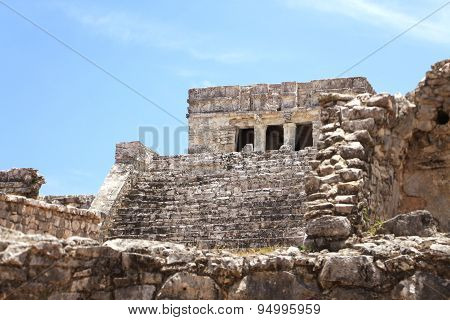 mayan ruins at yucatan peninsula mexico