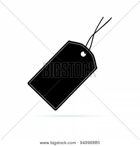 Tag Sale Vector Silhouette