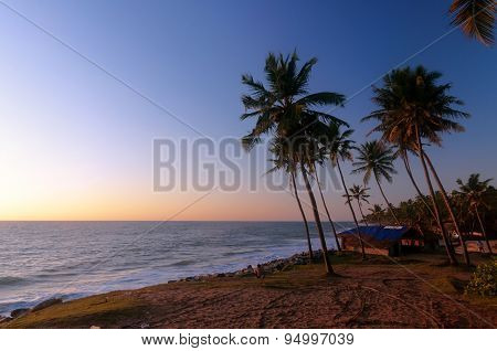Varkala Beach At Sunset