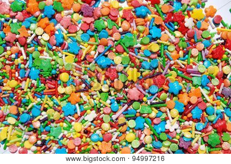 Texture confectionery sprinkles