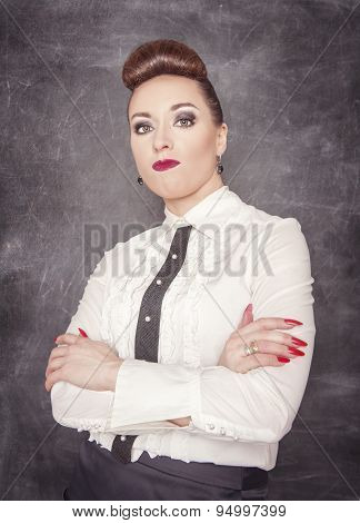 Strict Teacher Looking At You