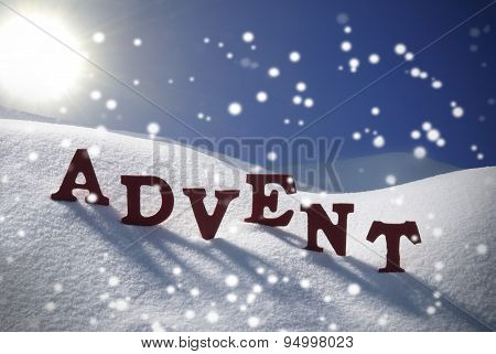 Advent Mean Christmas Time Snowflakes Sun Blue Sky