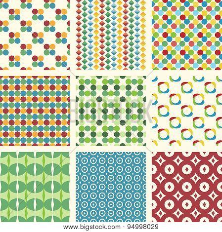 10 Seamless Patterns Set
