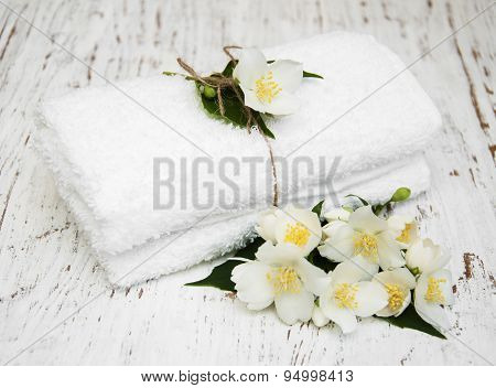 Fresh Jasmine And Towel