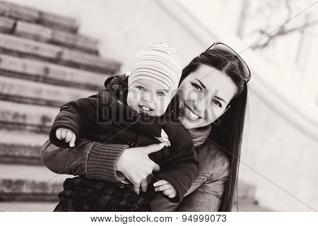 Mom And Baby Son