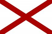 picture of alabama  - Flag of USA State Alabama  - JPG