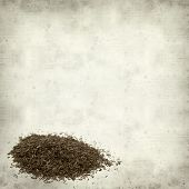 picture of fynbos  - textured old paper background with Rooibos tea - JPG