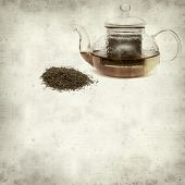 image of fynbos  - textured old paper background with Rooibos tea - JPG