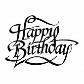 pic of congratulation  - Happy Birthday hand drawn lettering - JPG