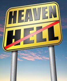 stock photo of evil  - heaven or hell - JPG