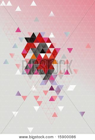 Here is represented an abstract background. It consists of triangles.