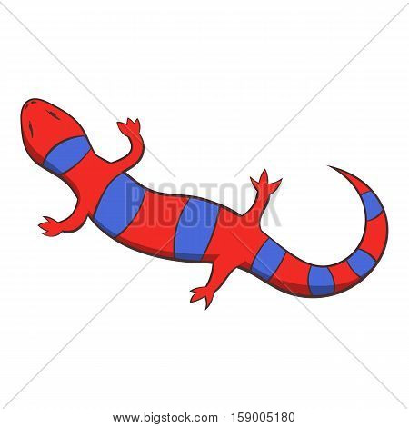 Red lizard icon. Cartoon illustration of red lizard vector icon for web