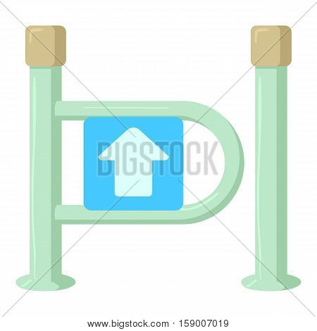 Fencing system icon. Cartoon illustration of fencing system vector icon for web