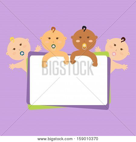 funny children, child, kindergarten, poster, international, vector, stick, letter, boards, people, kids, babies large banner