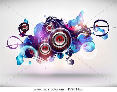 Vector abstractos altavoces