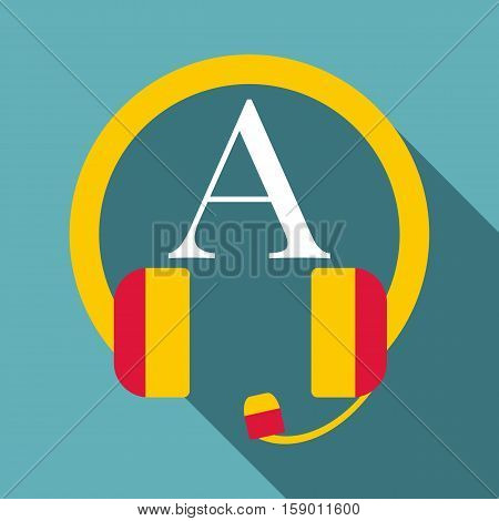 Listening icon. Flat illustration of listening vector icon for web