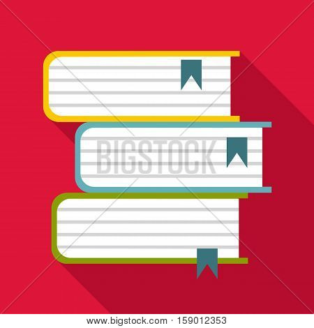 Foreign books icon. Flat illustration of foreign books vector icon for web