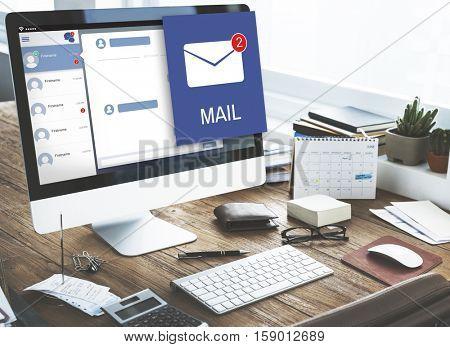 Letter Envelop Message Notification Concept