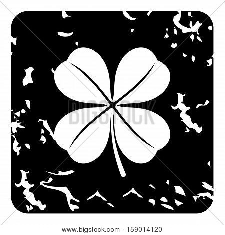 Clover icon. Grunge illustration of clover vector icon for web