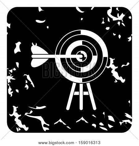 Target icon. Grunge illustration of target vector icon for web
