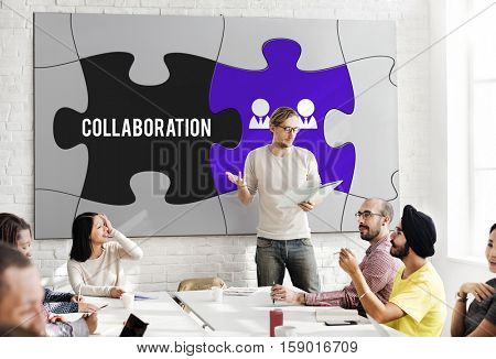 Team Building Collaboration Partnership Cooperation Concept