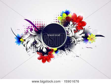 Floral abstract composition