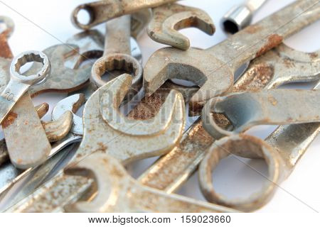 Wrench Set, Rusty Tools, Group Of Wrenches