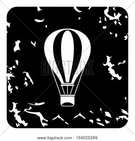 Air balloon icon. Grunge illustration of air balloon vector icon for web
