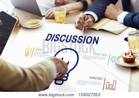 Discussion Sharing Ideas Creativity Light Bulb