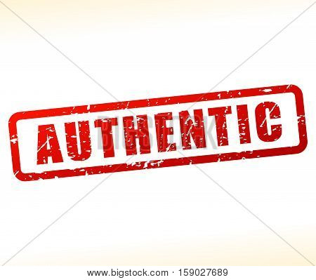 Illustration of authentic stamp on white background